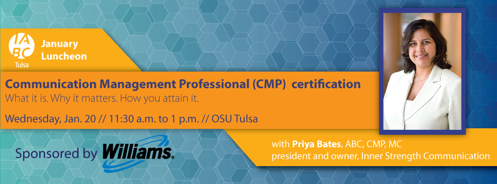 Join us for our January 2015 Luncheon: CMP Certification – What it is. Why it matters. How you attain it.