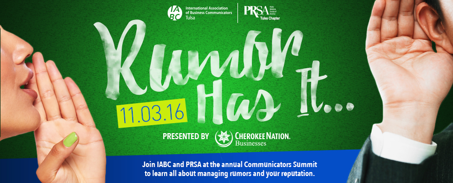 Join us for our Communicators Summit 2016: Rumor Has It…