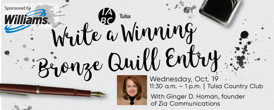 Join us for our October Luncheon: Write a Winning Bronze Quill Entry