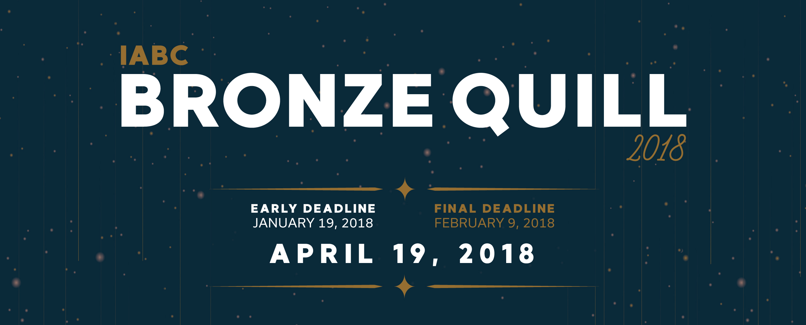 Bronze Quill 2018 – Call for Entries