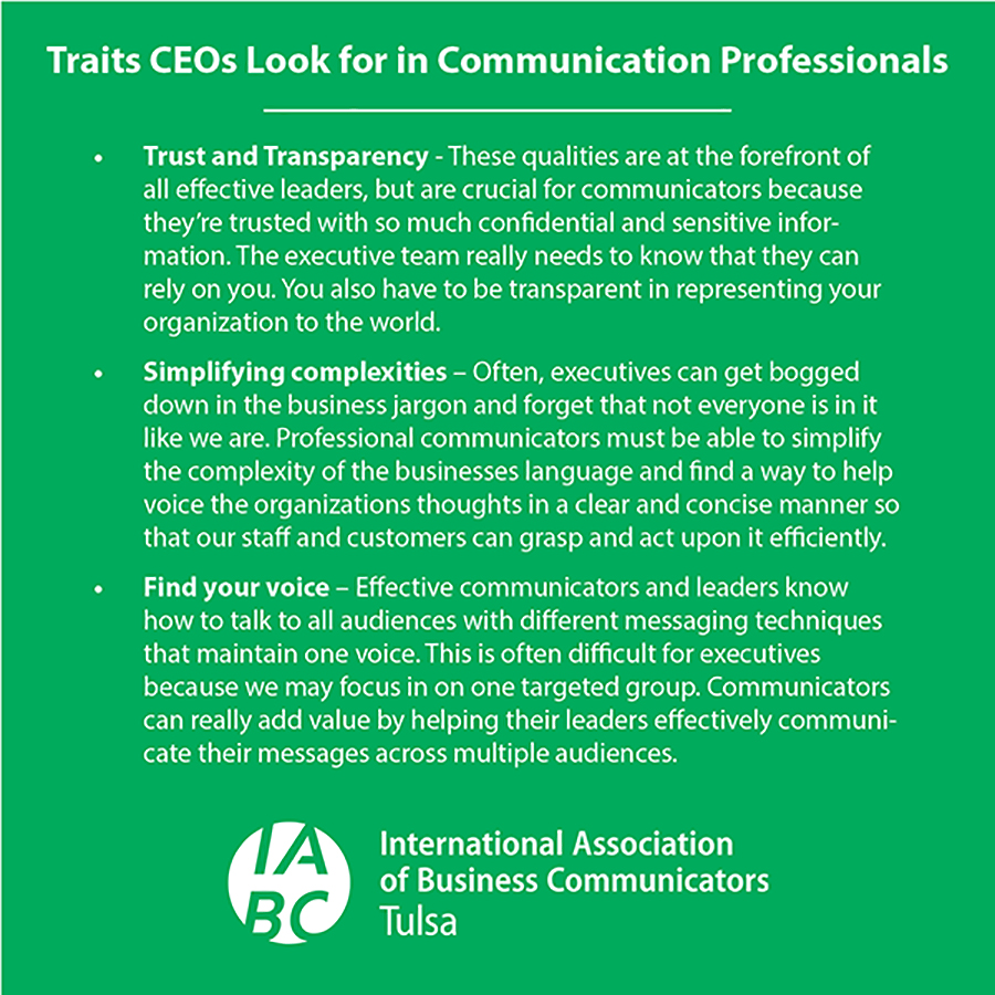 Traits CEOs Look for in Communication Professionals