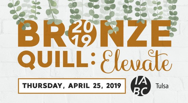 Bronze Quill: Elevate Thursday, April 25, 2019