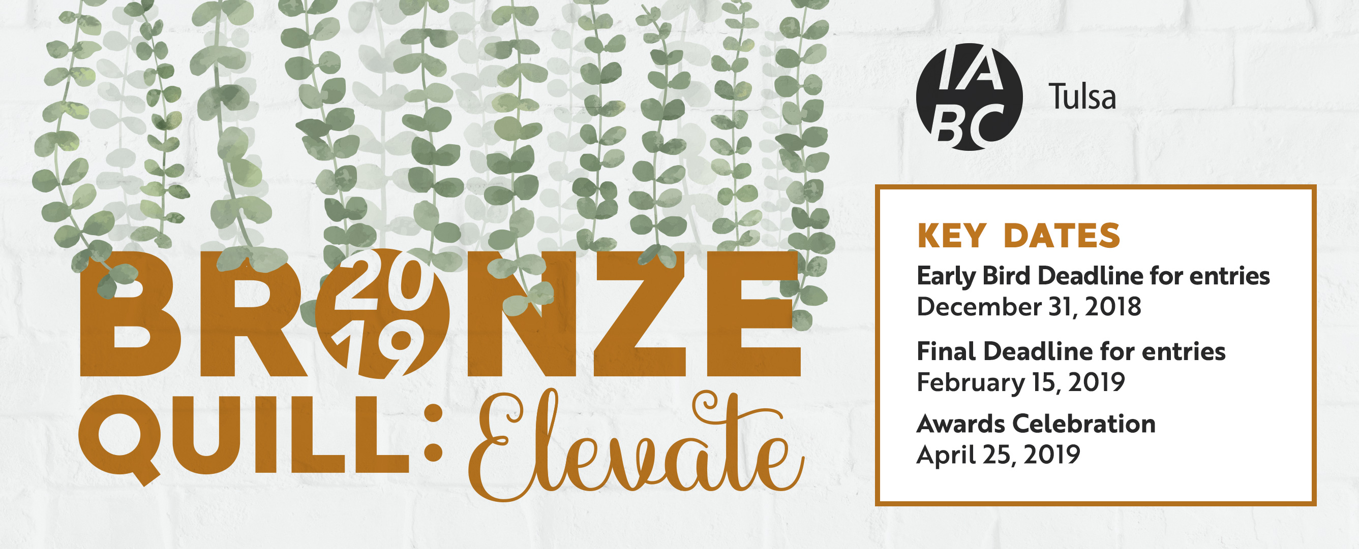 Bronze Quill 2019 Key Dates