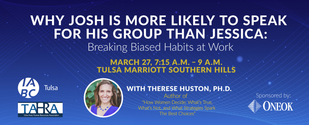 Why Josh is More likely to Speak for His Group than Jessica: Breaking Biased habits at Work