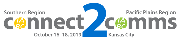Southern Region Pacific Plains Region connect2comms conference October 16 through 18 2019 Kansas City