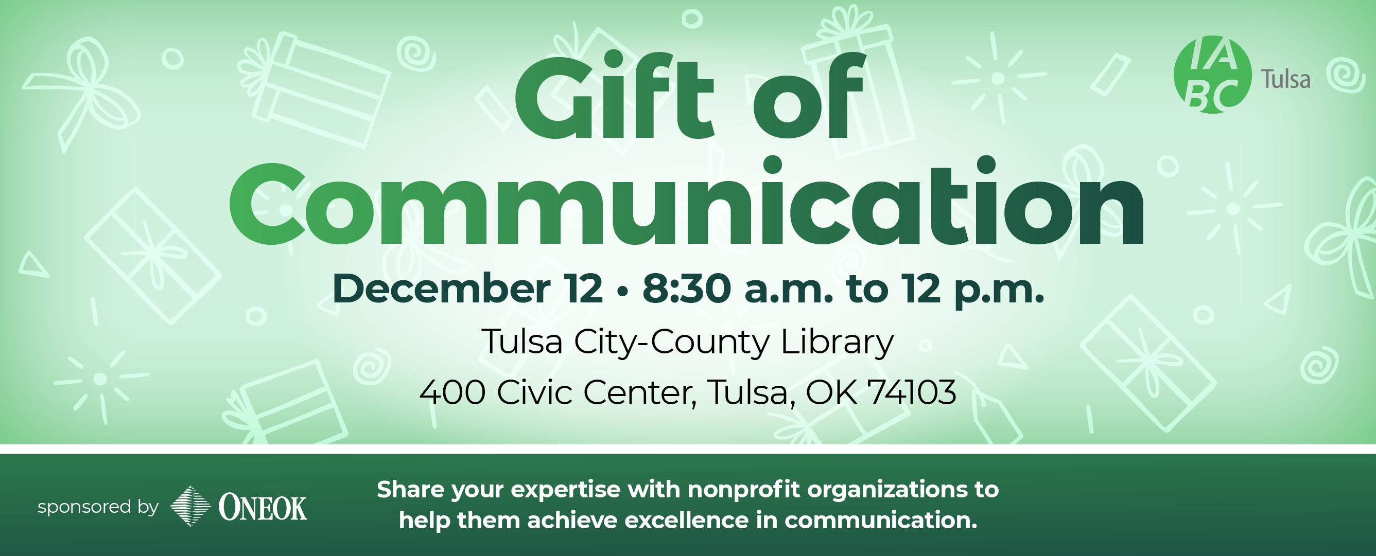 Gift fo Communications IABC Tulsa