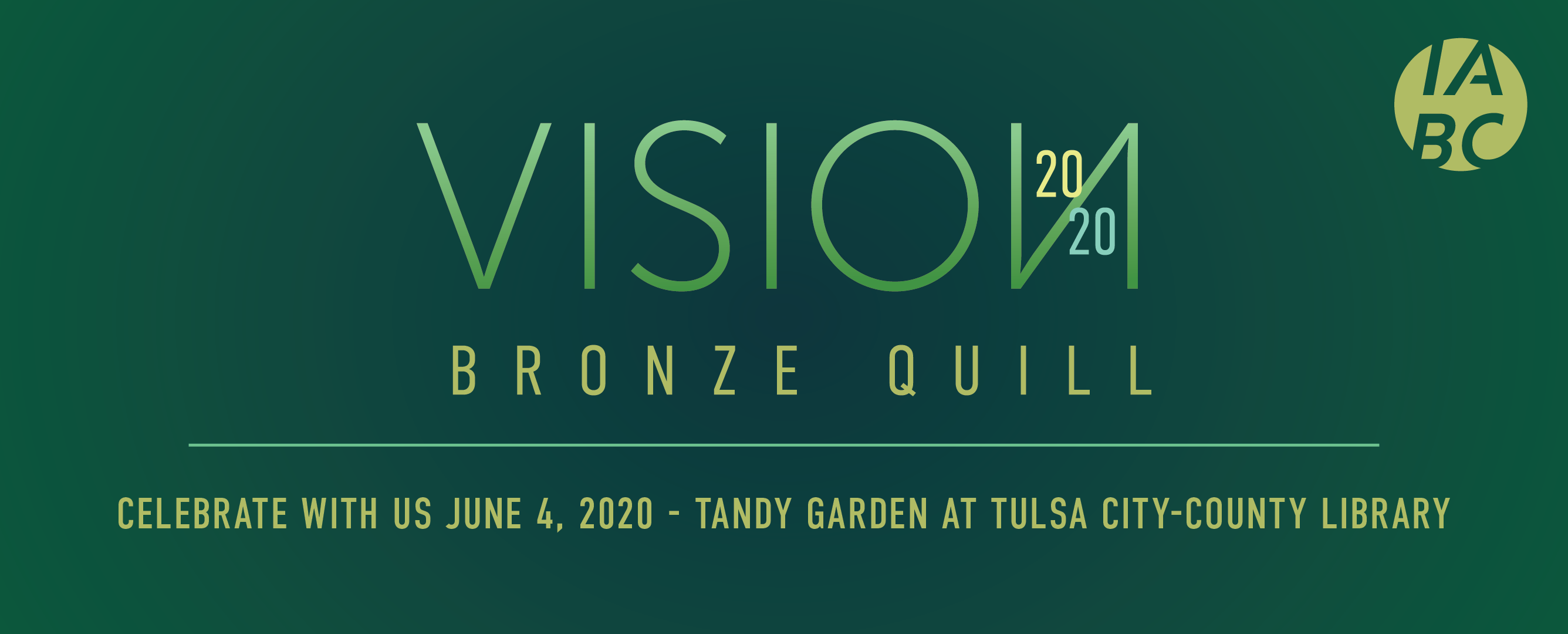 Vision 2020 Bronze Quill June 4, 2020 Tandy Garden at Tulsa City-County Library