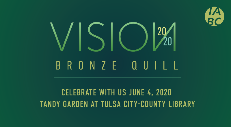 Vision 2020 Bronze Quill Celebrate with us june 4, 2020 tandy garden at tulsa city-county library